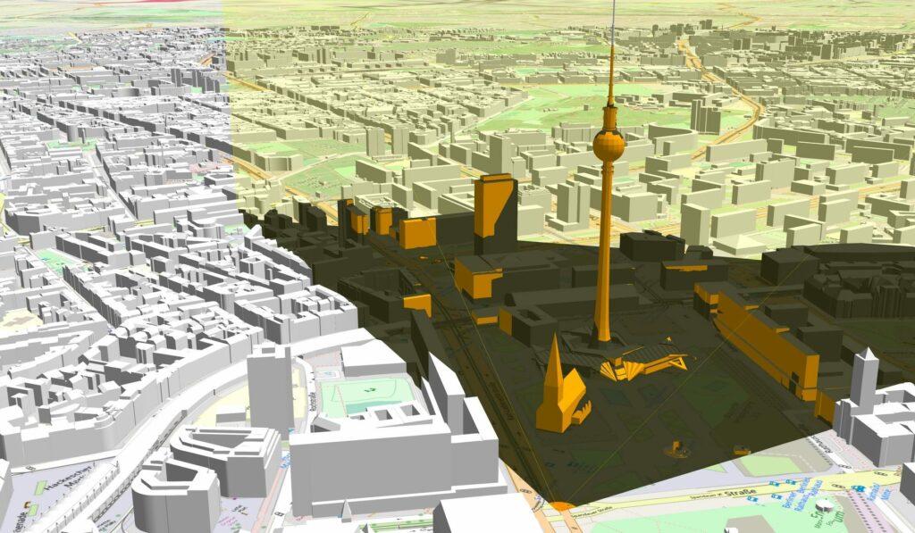 Sichtbarkeitsanalyse 3D-Stadtmodell