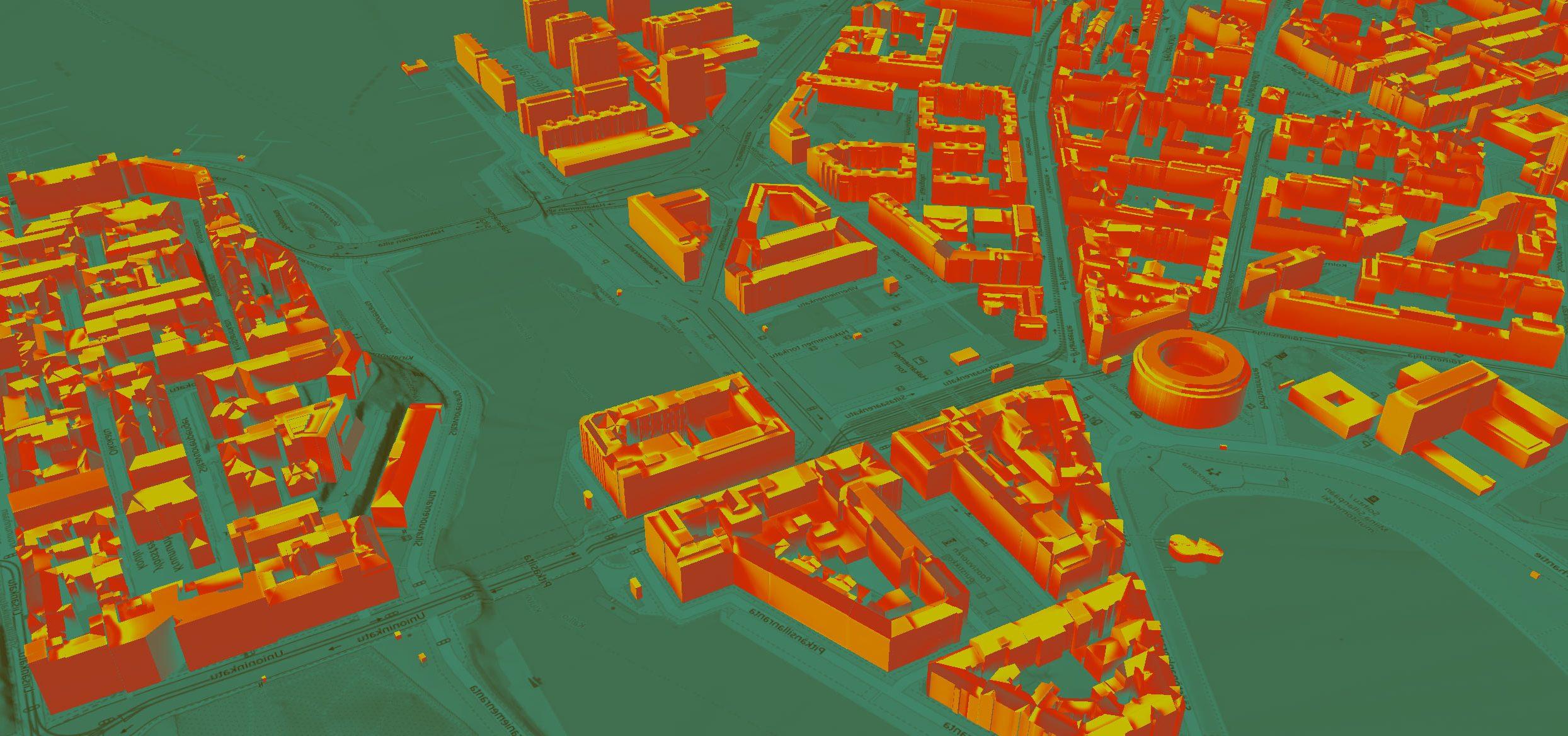 Städtische Simulation in der Stadt xxxx
