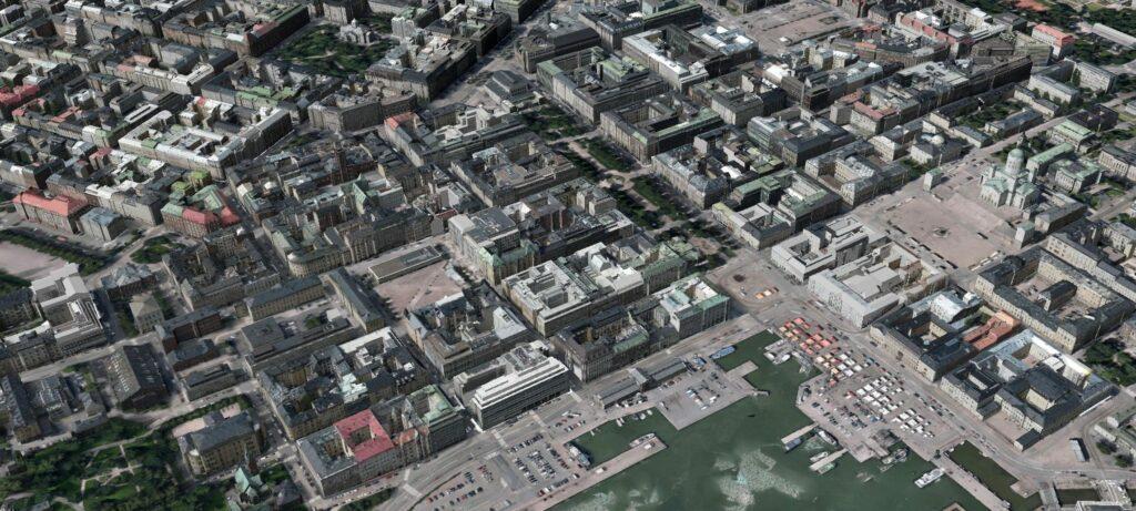 3D-Stadtmodell Helsinki