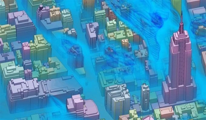 Simulation windfeld New York
