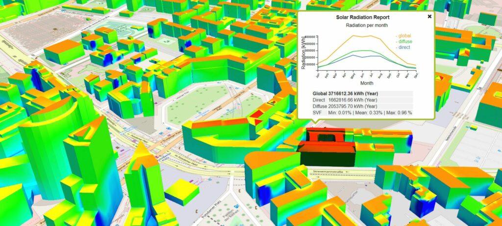 3D solar potential analysis