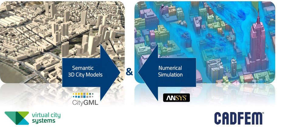 Coupling of 3D city models with numerical simulations and analyses vcs_cadfem