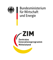 Logo of the Federal Ministry for Economic Affairs and Energy an the ZIM